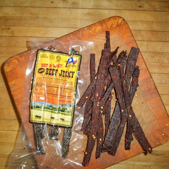 HOT Beef Jerky, thick cut, 4 oz.